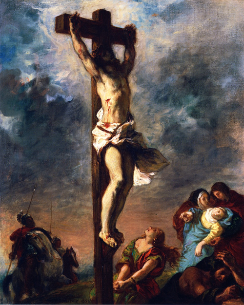 Christ-on-the-Cross-Painting-by-Eugene-Delacroix