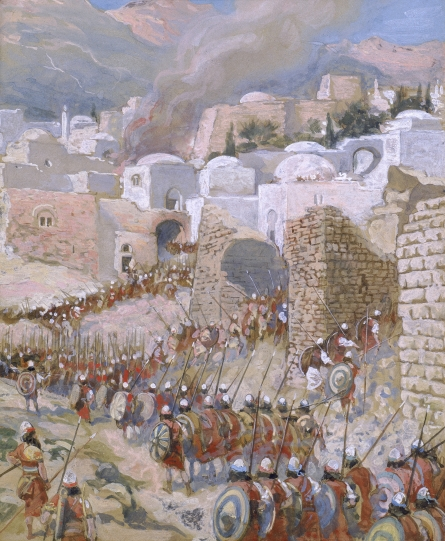 Tissot, The Taking of Jericho. Jericho was the first battle in the Conquest of Canaan.