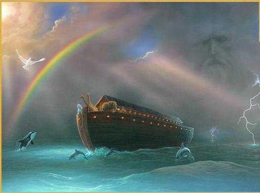 Peter uses typology when he compares Noah's flood to baptism