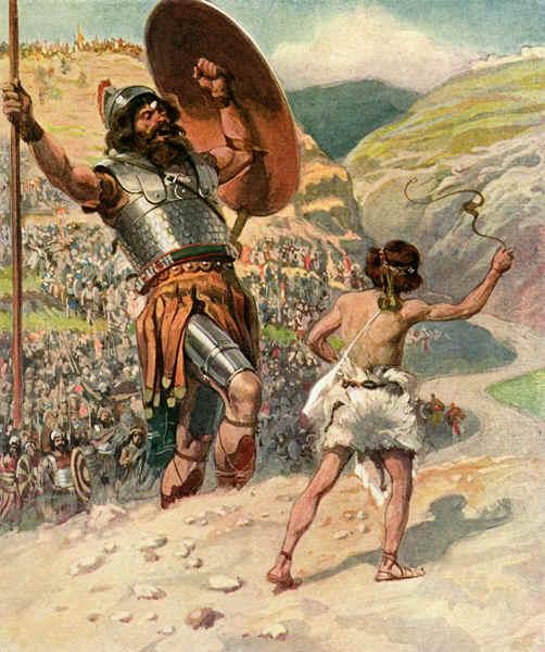 David And Goliath Famous Art