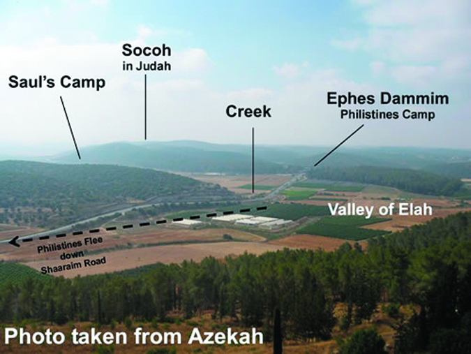 The Valley of Elah. Photo taken from http://nw-connection.com/blog1/2014/09/06/the-eternal-war-between-israel-and-the-palestinians-part-i-in-series/
