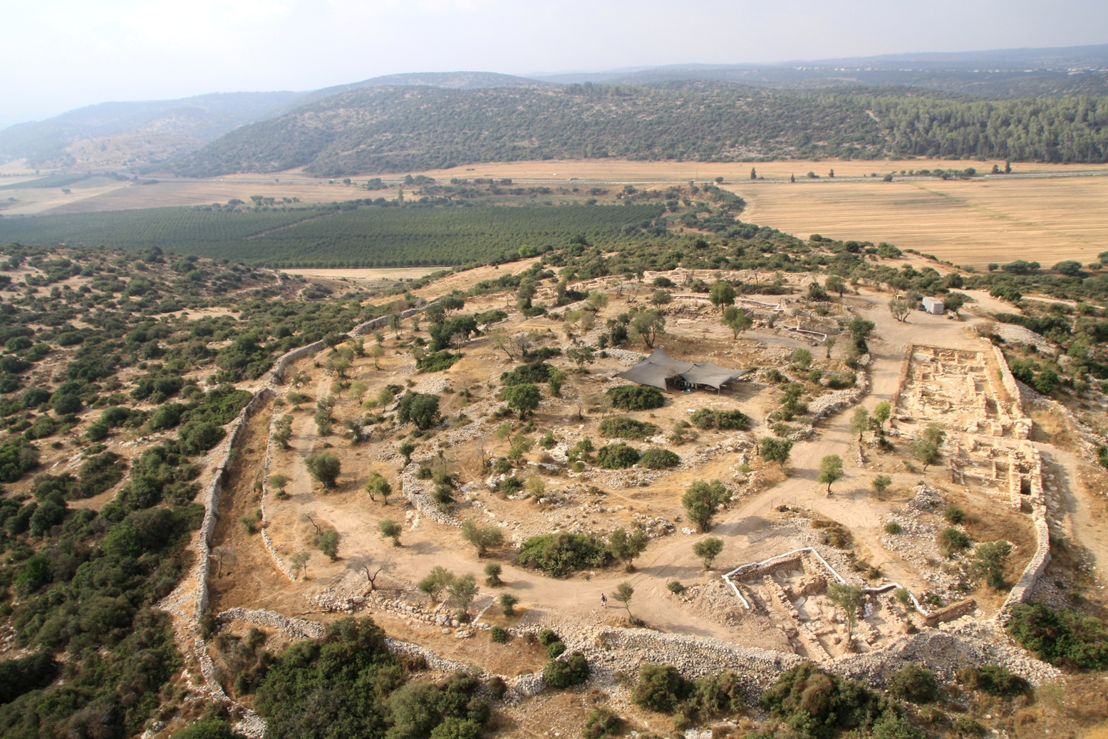 Khirbet Qeiyafa, where Luke participated in his first archaeological dig.